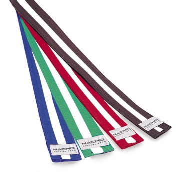 Rank Belt with White Stripe