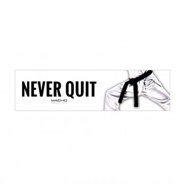 Never Quit Bumper Sticker