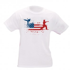 American Flag Martial Arts T-Shirt