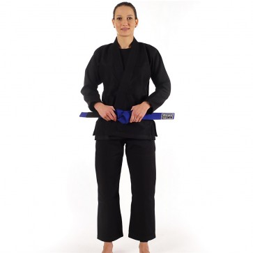"Women's 93 Brand ""Standard Issue"" BJJ Gi - Black"