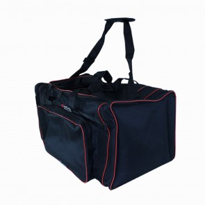 Sports Bag - Black with Red Trim