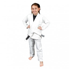 "93 Brand ""Standard Issue"" Children's White BJJ Gi"
